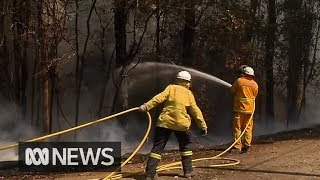 Residents on alert in NSW as two major bushfires flare again | ABC News