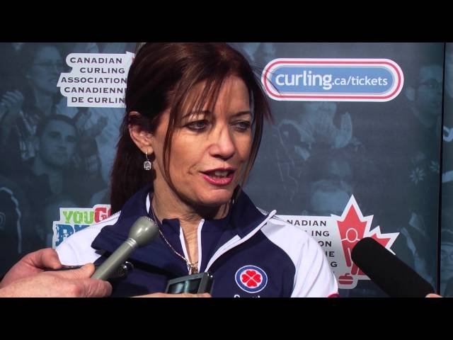 Draw 2 Media Scrum - 2013 Scotties Tournament of Hearts