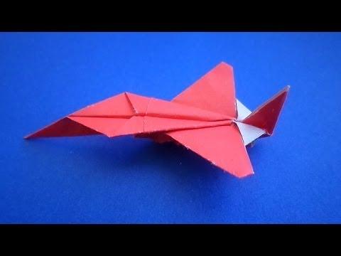 оригами самолет /  origami plane / оригами самолет истребитель / origami  fighter