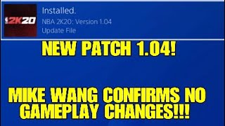 NBA 2K20 PATCH 1.04 UPDATE: 100 MB ONLY? NO GAMEPLAY CHANGES? GLITCHES PATCHED?