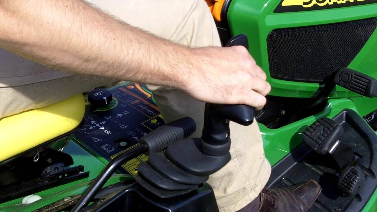 john deere commandes du nouveau tracteur tondeuse diesel x950r par thomas cormier youtube. Black Bedroom Furniture Sets. Home Design Ideas