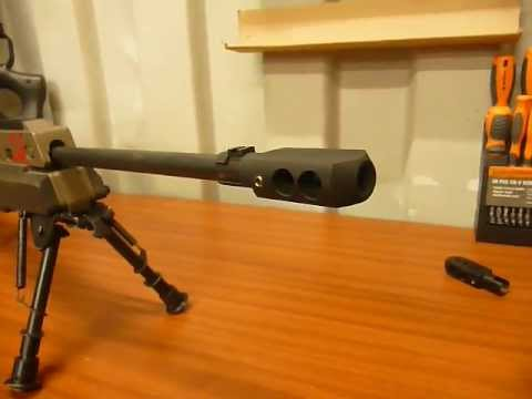 Custom built Mosin Nagant muzzle brake 91/30