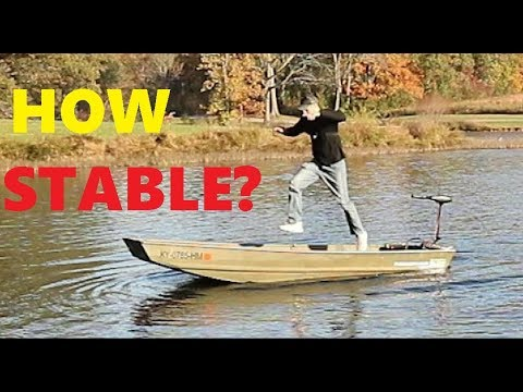 How stable is a jon boat (jon boat series. 3) tracker 1236