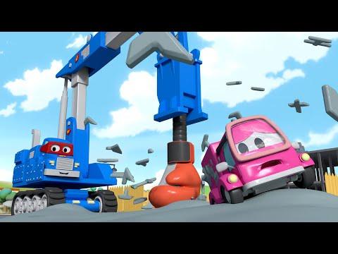 Xe tải búa khoan - Siêu xe tải Carl 🚚⍟ những bộ phim hoạt hình về xe tải l Vietnamese Cartoons
