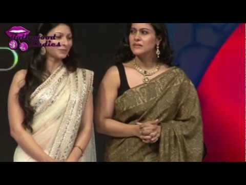 Kajol & Tanisha In Sleeveless Blouse video