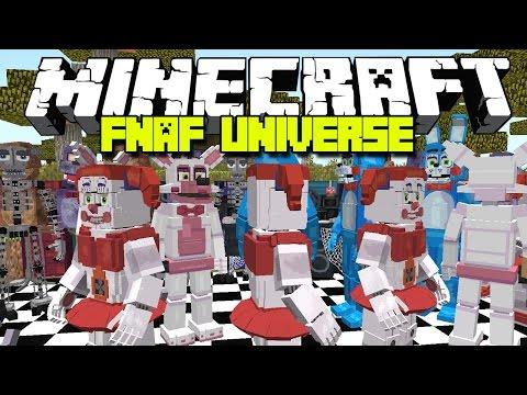 Minecraft FNAF UNIVERSE 3.0 MOD / NEW SISTER LOCATION ANIMATRONICS!! Minecraft