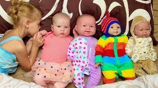 Mania Pretend play with little Baby and Dolls Toys  Videos for Kids