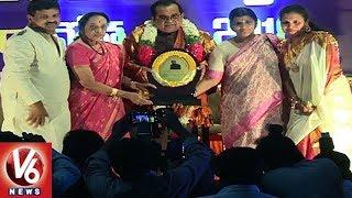 Jamuna And Lakshmi Parvathi Felicitate Brahmanandam With Lalithakala Award