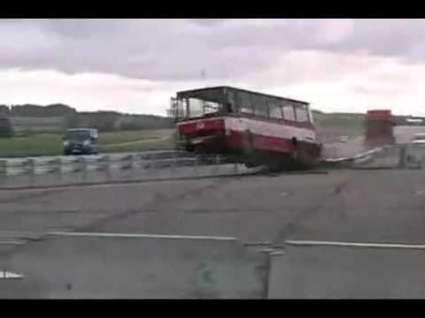 Crash Funny Bus Accident Talented Man Escapes Injury