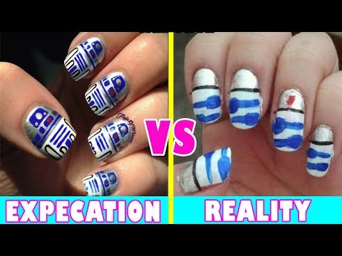 Nail Art Expectations Vs Reality