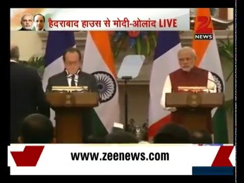 Hollande in Delhi: India, France sign MoU on Rafale jets