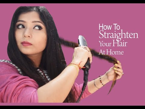 How to Straighten Hair At Home With A Hair Straightener/Hair Straightening/Parna's Beauty World
