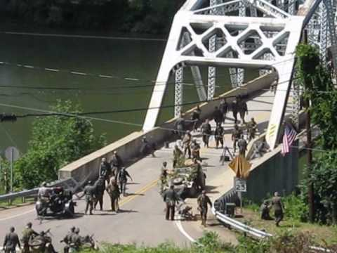 Battle of Remagen Bridge Reenactment  - August 7, 2010 - Germans Falling Back