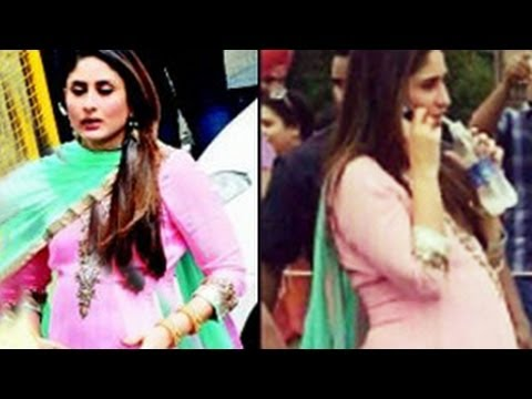 Pregnant Kareena Kapoor's Baby Bump Exposed video