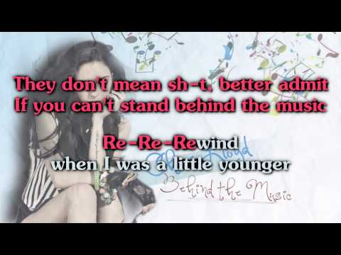 Cher Lloyd - Behind The Music [Karaoke/ Instrumental]