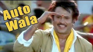 Hindi full dubbed movie song - Baashha   Auto Wala   Rajinikanth