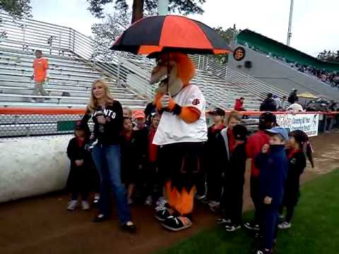 NBC Bay Area Meteorologist Christina Loren Does a Live Forecast from San Jose Giants' Weather Day