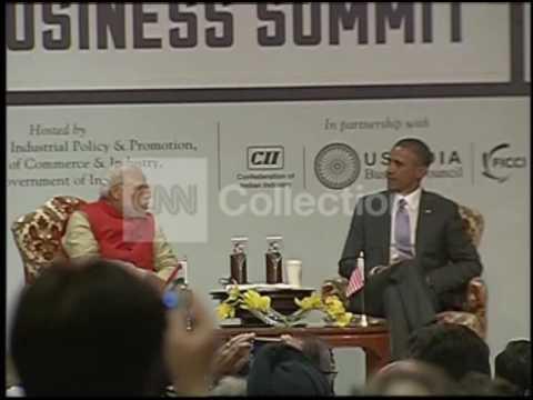 INDIA-US BUSINESS SUMMIT:OBAMA WALK UP