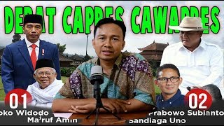 Menakar kemampuan debat Capres Cawapres Jokowi Makruf Amin dan Prabowo Sandiaga Uno