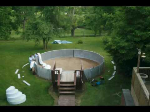 The Second Above Ground Pool Liner Replacement Youtube