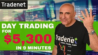 Live Day Trading for $5,300 in 9 minutes!