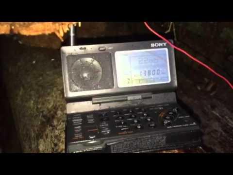 Sony ICF-SW100 outdoor test: Radio Dabanga 13800 KHz Madagascar
