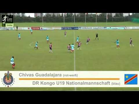 EnBW U19 Cup in Laupheim: Halbfinale Chivas Gujadalajara vs. DR Kongo U19 Nationalmannschaft