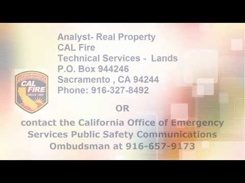 CalTech Video for Radio Vault Space Application TD-312 (CalFIRE)