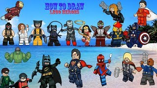 wow! How to Easy Draw Character Lego SuperHero!!!