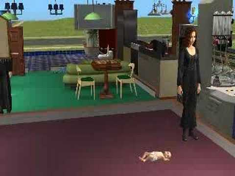 Sims 2 - Woman giving birth to twins (cinematic) Video