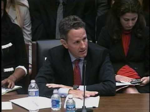 Congressman Tom Price Questions Tim Geithner On Regulatory Reform