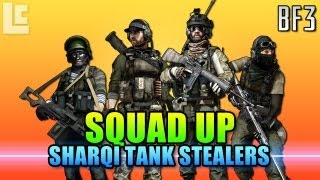 Squad Up - Sharqi Tank Stealers, Awesome Game (Battlefield 3 Gameplay/Commentary)