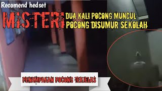 ⚫️sosok pocong Disumur sekolah😱 (review live youtube)
