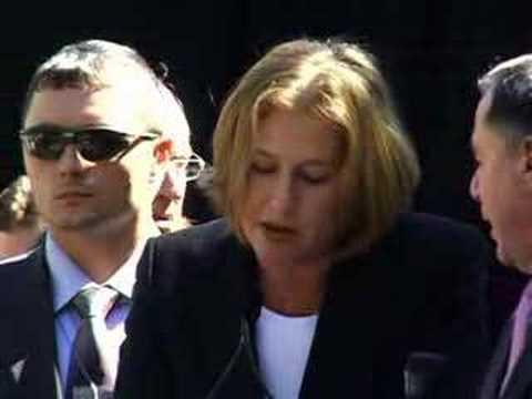 Tzipi Livni at UN Ahmadinejad Protest Rally on Shalom TV