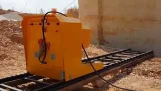 DIAMOND WIRE SAW CUTTING MACHINE S975T CUTTING IN BOTTICINO QUARRY - ITALY