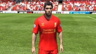 FIFA 13: Liverpool Player Faces