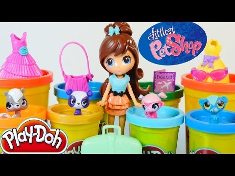 Play Doh Littlest Pet Shop Travel Trendy Blythe Pets Toys Play Dough World Hasbro