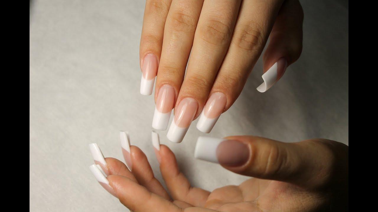 Нарощенная форма ногтей фото