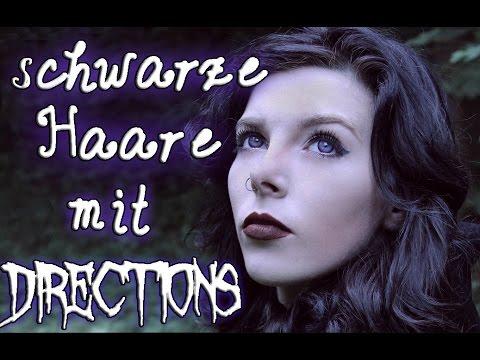 How To #9 - SCHWARZE Haare mit Directions (AUSWASCHBAR)