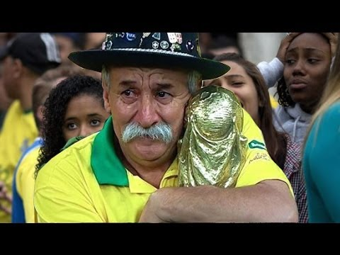 Brazil vs Germany Gaucho Gives World Cup To German Fan