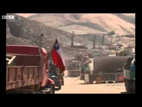 Chile mine,massive drill arrives onsite