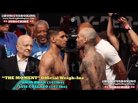 AMIR KHAN VS. LUIS COLLAZO Official Weigh-In *RAW & UNCUT*