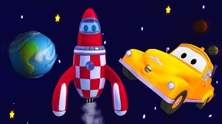 Tom the Tow Truck of Car City - Tom The Tow Truck and the Rocket in Space above Car City