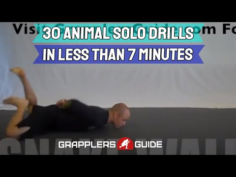 30 Animal Grappling Solo Drills in Less Than 7 Min - Jason Scully
