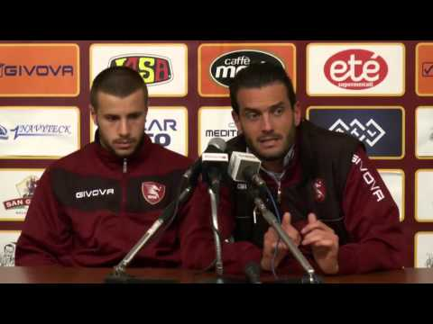 Salernitana - Entella 2-2, interviste post gara a Colombo e Gatto