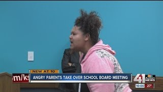 Parents disrupt Lawrence school board meeting