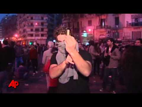 Raw Video: Mass Protest Against Egypt Leader
