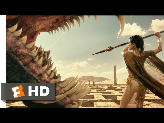 Gods of Egypt 2016 - The Goddess  The Giant Snakes Scene 511  Movieclips