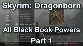 All Black Book Powers Part 1 - Skyrim Dragonborn