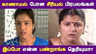 காணாமல் போன சீரியல் பிரபலங்கள் இப்போ என்ன பண்றாங்க தெரியுமா? | Tamil Cinema | Kollywood